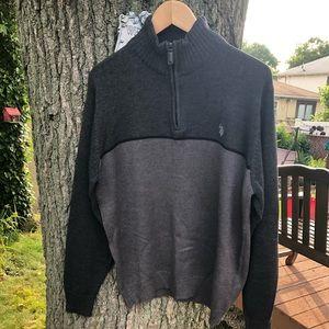 U.S. Polo Assn. 1/4 zipper pullover sweater